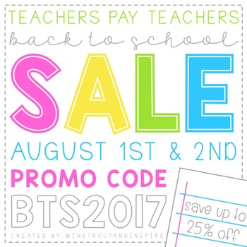 Back to School Sale Button