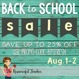 Back to School Sale is August 1-2