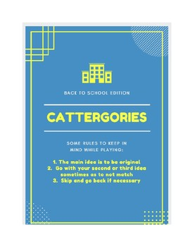 Back to School Scattergories