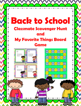 Back to School - Scavenger Hunt