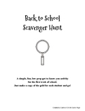 Back-to-School Scavenger Hunt