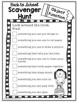 Back to School Scavenger Hunt and I Spy! Games
