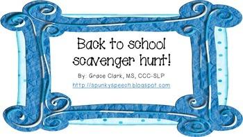 Back to School Scavenger Hunt for School Supplies