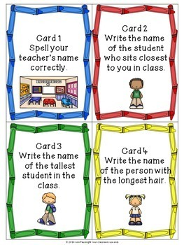 Back to School Scavenger Hunt, the Who, What, Where, When, & How of your class