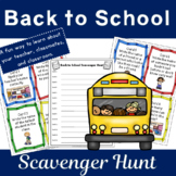 Back to School Scavenger Hunt, the Who, What, Where, When,