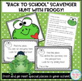 Back to School Scavenger Hunt with Froggy!
