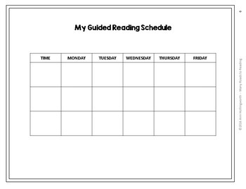 Scheduling Guided Reading Groups K-1 FREEBIE