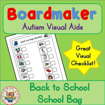 Back to School School Bag Checklist - Boardmaker Visual Aids for Autism