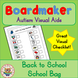 Back to School School Bag Checklist - Boardmaker Visual Aids for Autism SPED