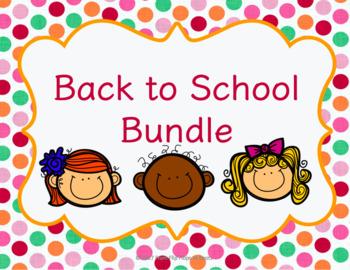 Back to School School Bundle!