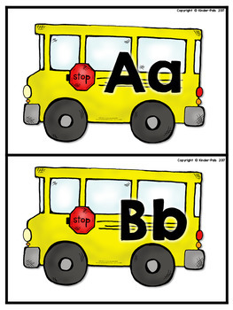 Back to School- School Bus Theme Beginning Sounds Sort FREE SAMPLE
