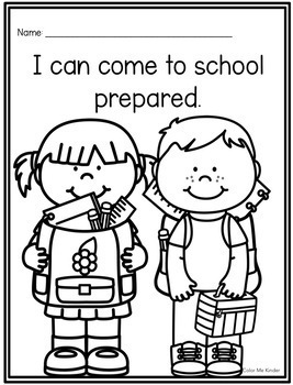 I CAN School Rules Coloring Sheets for Pre- K and K by Color Me Kinder