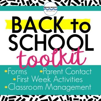 Back to School, Beginning of Year, Classroom Set Up, Management, Organization