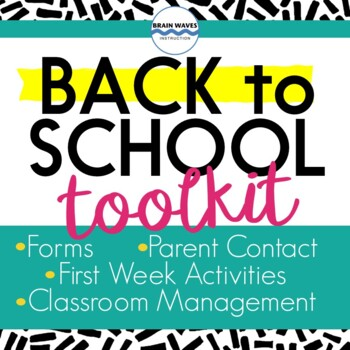 Back to School, Beginning of Year, Classroom Set Up, Management, Organization