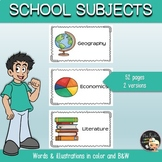 School Subjects Posters