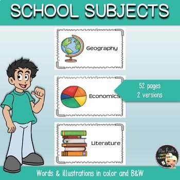 School Subjects Flashcards