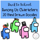 Back to School & School Supplies Among Us Characters I Han