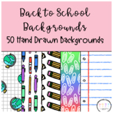 Back to School - School Supplies Backgrounds for Google Sl