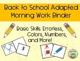 Back to School / School Supplies Basic Skills Adapted Work