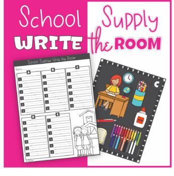 Back to School School Supply Write the Room