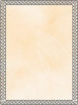 Back to School! School Things Page Ready Borders