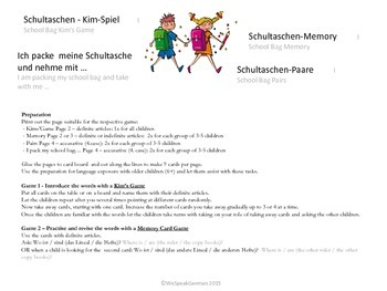 Back to School - Schulanfang - Activities
