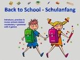 Back to School - Schulanfang - Activities