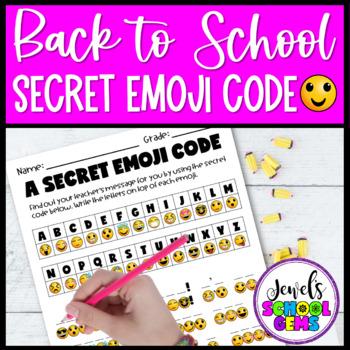 Back to School Emoji Activities (Emoji Back to School Activities Secret Code)