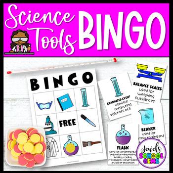 Back to School Science Activities (Science Tools Bingo)
