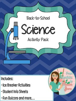 Back to School Science Activity Pack