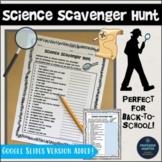 Back to School Science Activity Scavenger Hunt Icebreaker