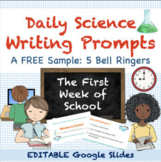 Back to School Science Bell Ringers FREE | Google Classroom & Distance Learning