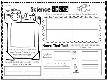 Back to School Science Class: Getting to Know You Worksheet
