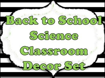 Back to School Science Classroom Poster and Decor Set