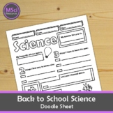 Back to School Science Doodle Sheet Visual Guided Notes