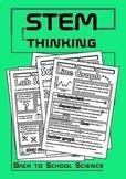 Back to School Science Doodle Notes Bundle- Lab Safety, Graph, Scientific Method