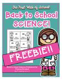 Back to School Science FREEBIE!