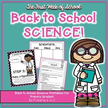 Back to School Science {Scientific Method, Experiment & Graphic Organizers!}