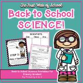 Back to School Science {Scientific Method, Experiment & Gr