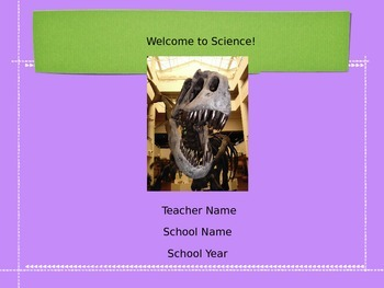 Back to School Science Slideshow *EASY TO EDIT*