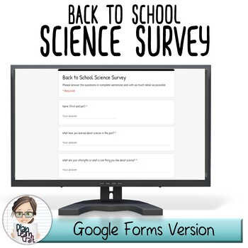 Back to School Science Survey: Middle School - BONUS Mid & End of Year Check-In