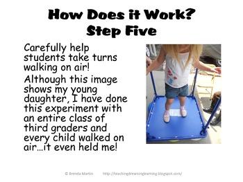 Back to School Science: Walking on Air