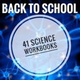 Back to School Science Workbooks