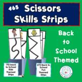 Back to School Scissors Cutting Practice Strips
