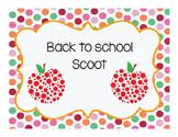 Back to School Scoot FREEBIE