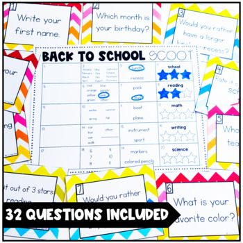 Back to School Scoot: A Getting to Know You Activity