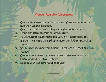 Back to School Scoot Activity