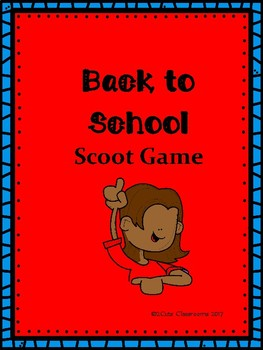 Back to School Scoot Game