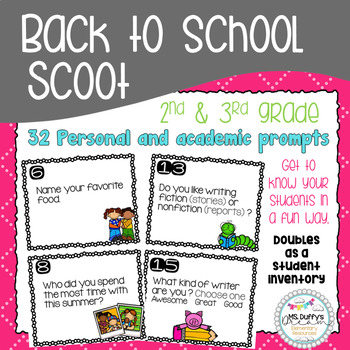 Back to School Scoot & Graphing Activity