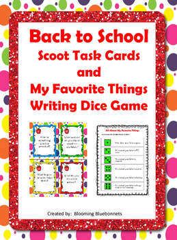 Back to School - Scoot Task Cards